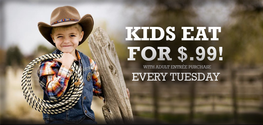 kids eat for $.99 on Tuesday
