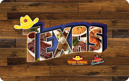 Texas Corral Gift Card front